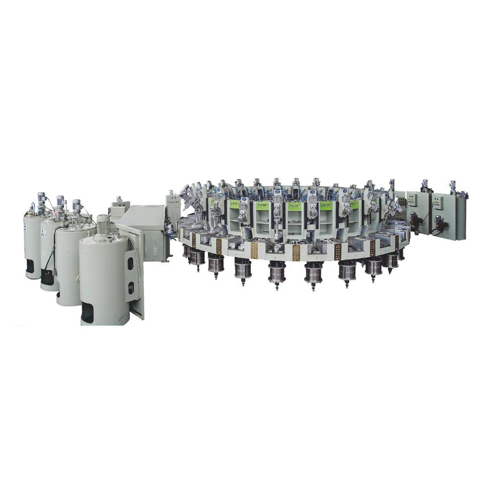 XJZX-(18.24.30)多工位,多密度,多色全自动聚氨酯连帮注射成型机